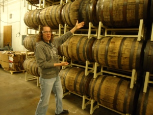 Jeff Presents Barrels For Aging