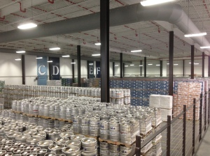 Kegs and cases of DFH beers ready to go.